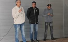 VISITA DOS JOGADORES PAULO RINK, LUIZINHO E ALEX...
